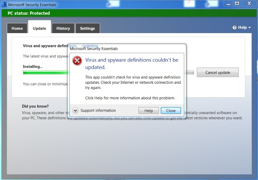 microsoft security essentials will not manually update microsoft rh answers microsoft com Install Symantec Live Update Ready to Install Automatic Updates