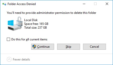 Prompt to delete Local Disk on login - Microsoft Community