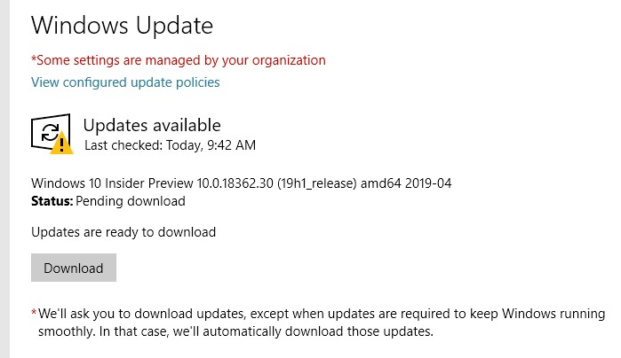 Stop Windows 10 Insider Preview from downloading updates - Microsoft