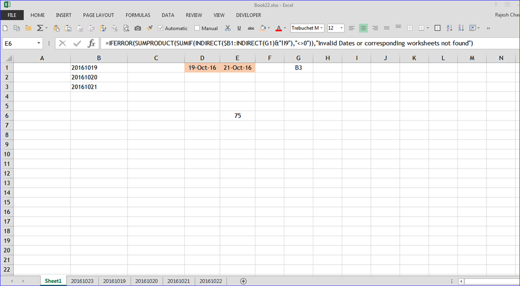 Dynamic SUM formula across worksheets - Microsoft Community