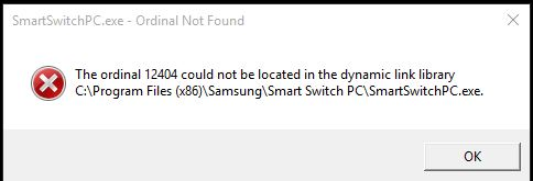 SmartSwitch for Samsung S6 Smartphone doesn't work with Windows 10