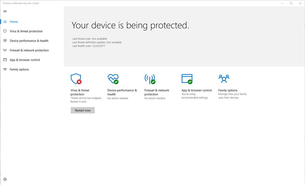 Windows Defender: Virus \u0026 thread protection - Microsoft Community