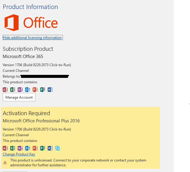 manually activate office 2016 with kms
