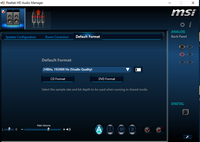 Realtek HD Audio Manager 7 1 Surround Sound Not Working (Only
