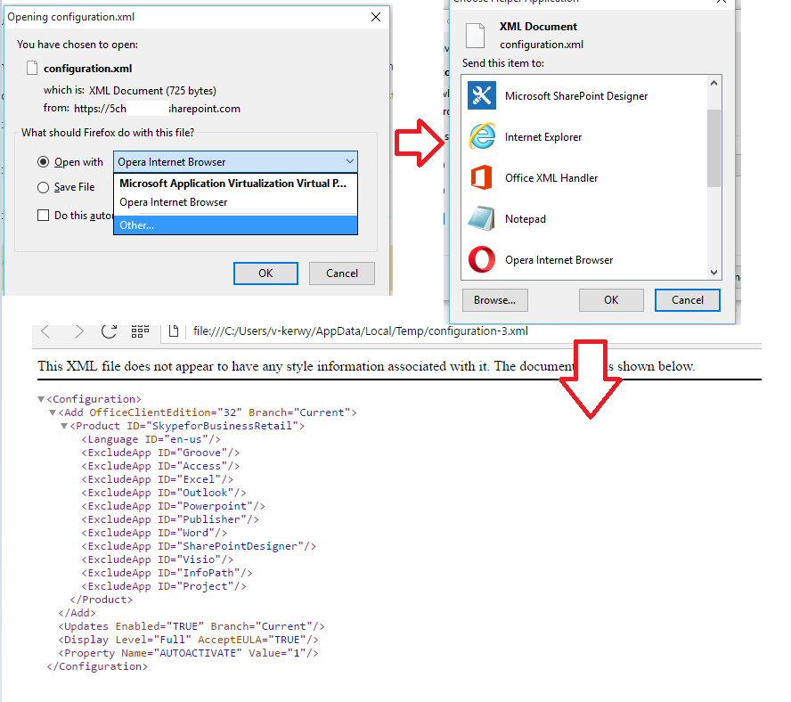how to open xml files from sharepoint online microsoft community