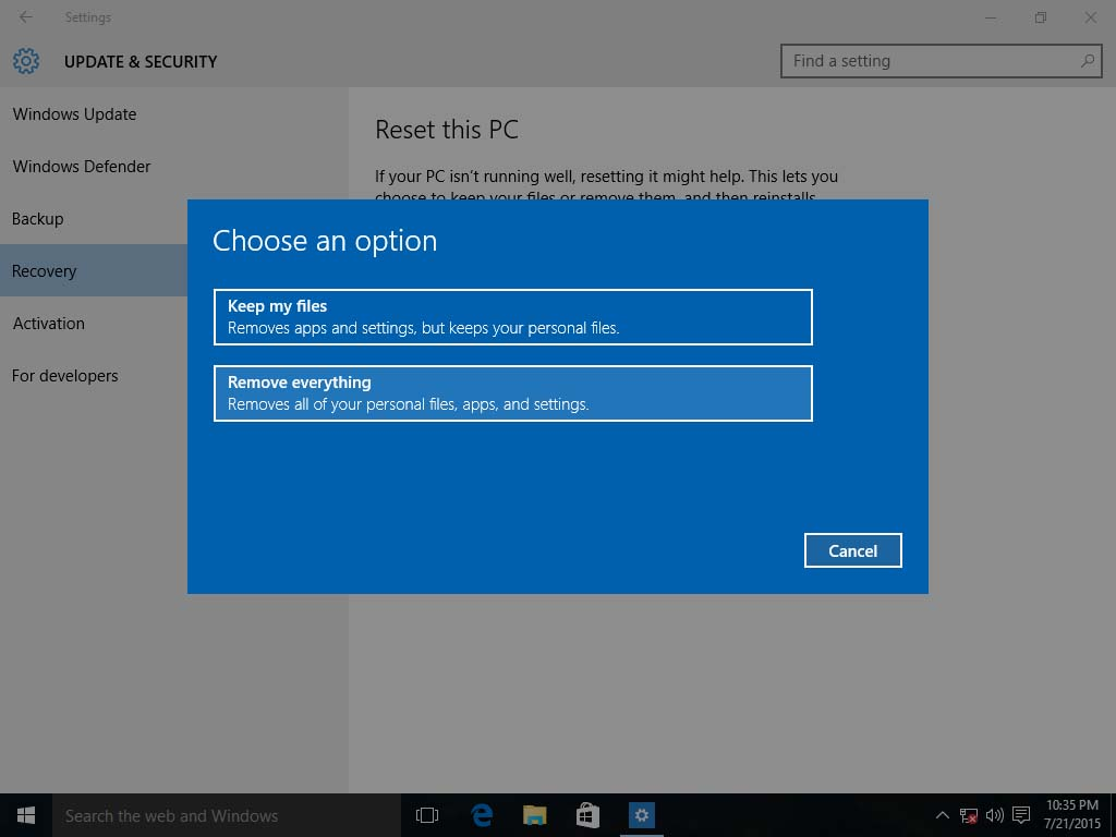 windows 10 refresh or clean install