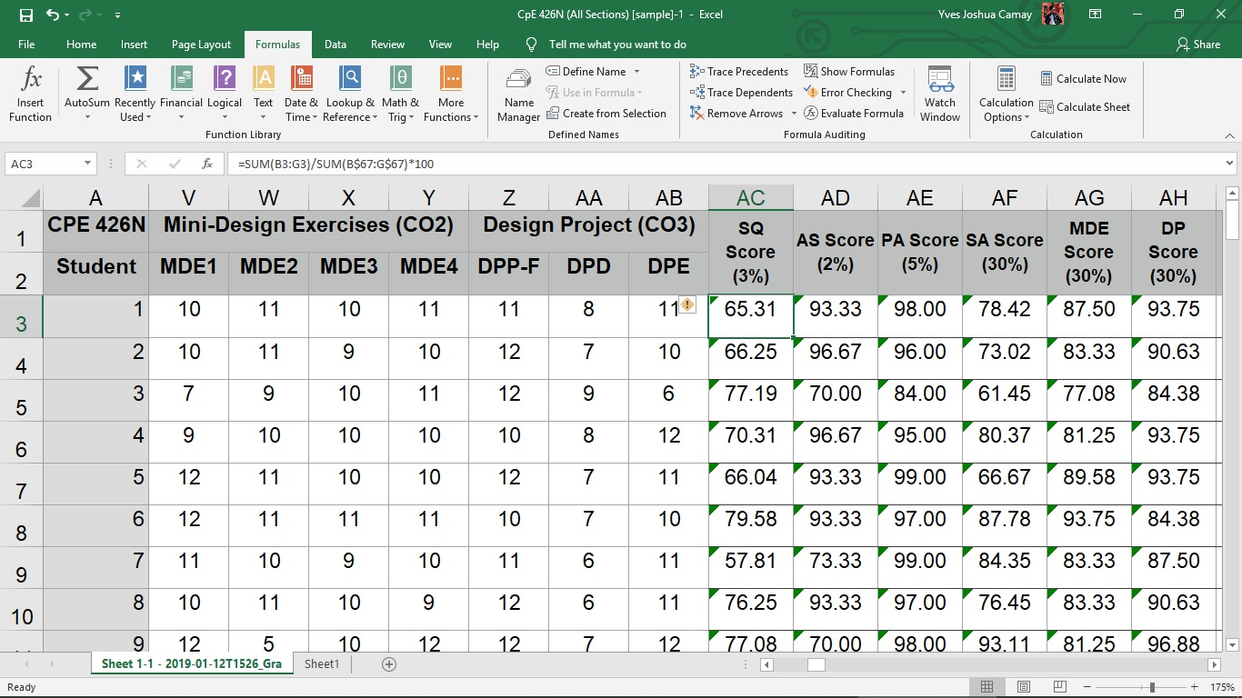 How to combine formulas in one cell in MS Excel When I put ...