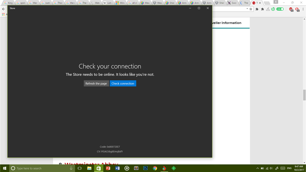 Windows 10 Store cant connect to the internet - Microsoft