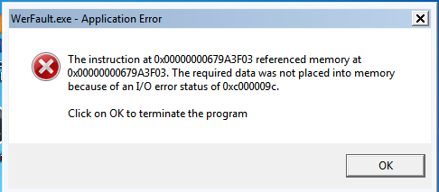 werfault exe error windows 10