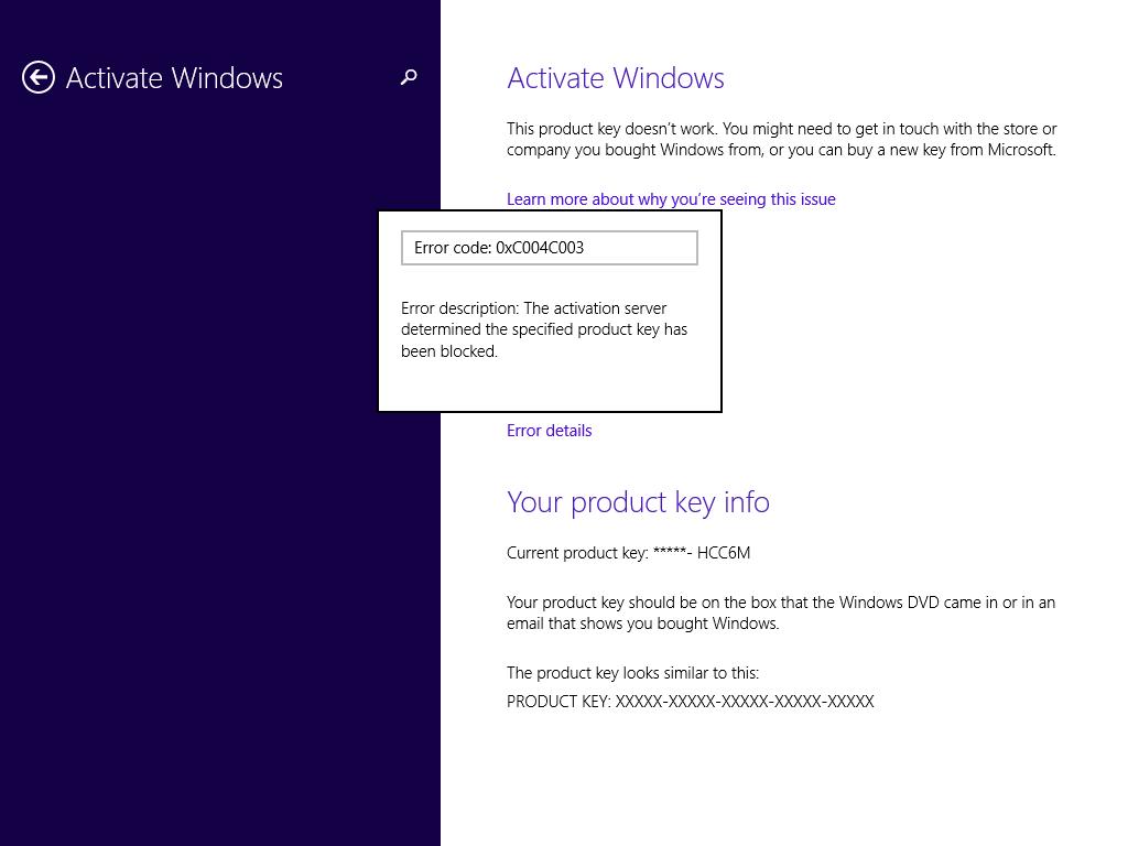 microsoft windows 8.1 pro activation key