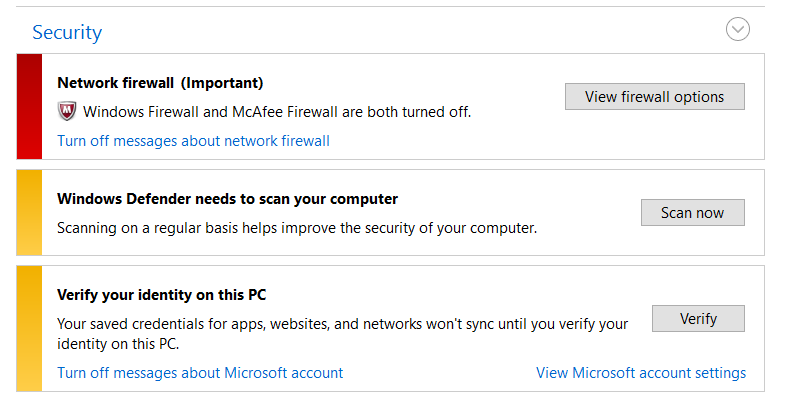 mcafee firewall does not turn on