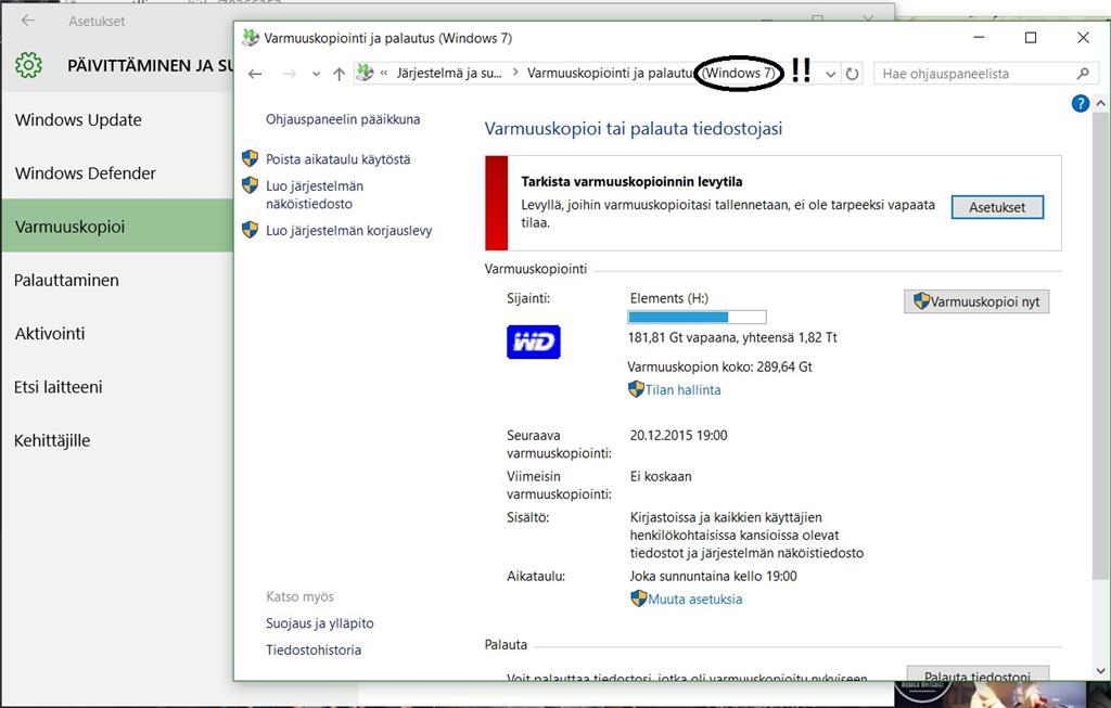 Windows Varmuuskopiointi
