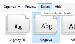Office 365 for Business Bug: 3rd Party Fonts display Bold