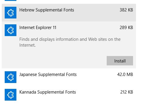 internet explorer 11 standalone installer