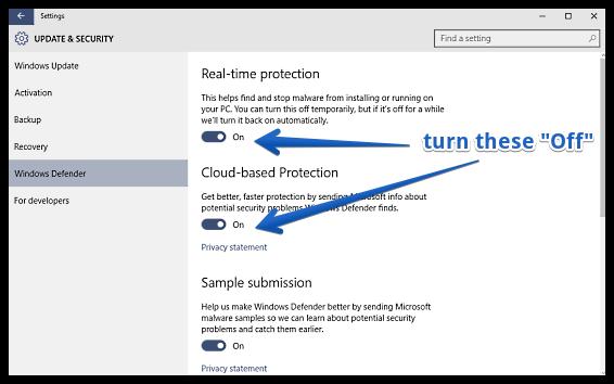 Defender Windows 10 deaktivieren