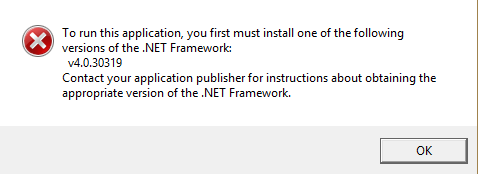 net framework 4.0 v 30319