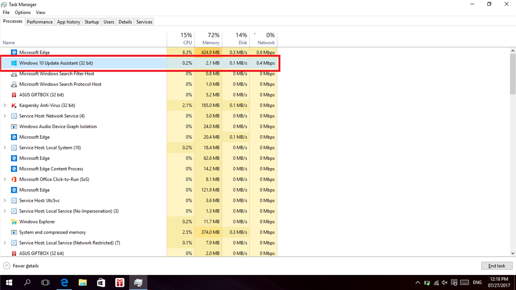 Windows 10 Update Assistant Silently Downloads In The