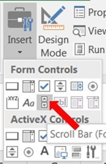 Scroll bar form control on worksheet: keeps resetting