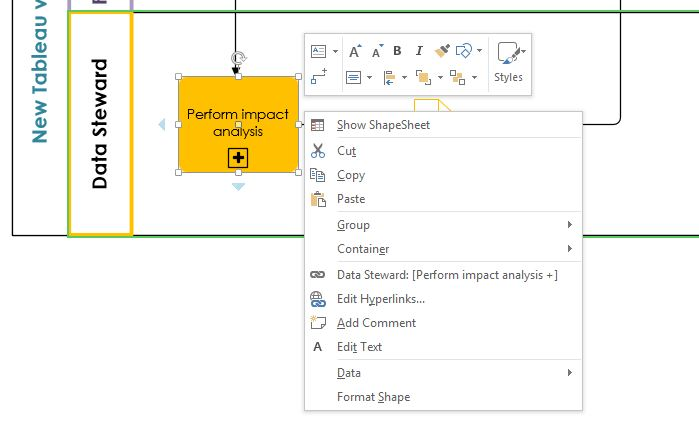 Right-click BPMN menu in Visio is missing events and