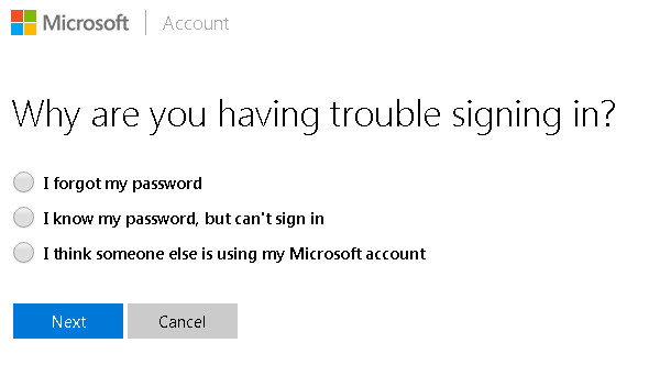 Find my microsoft account password in outlook