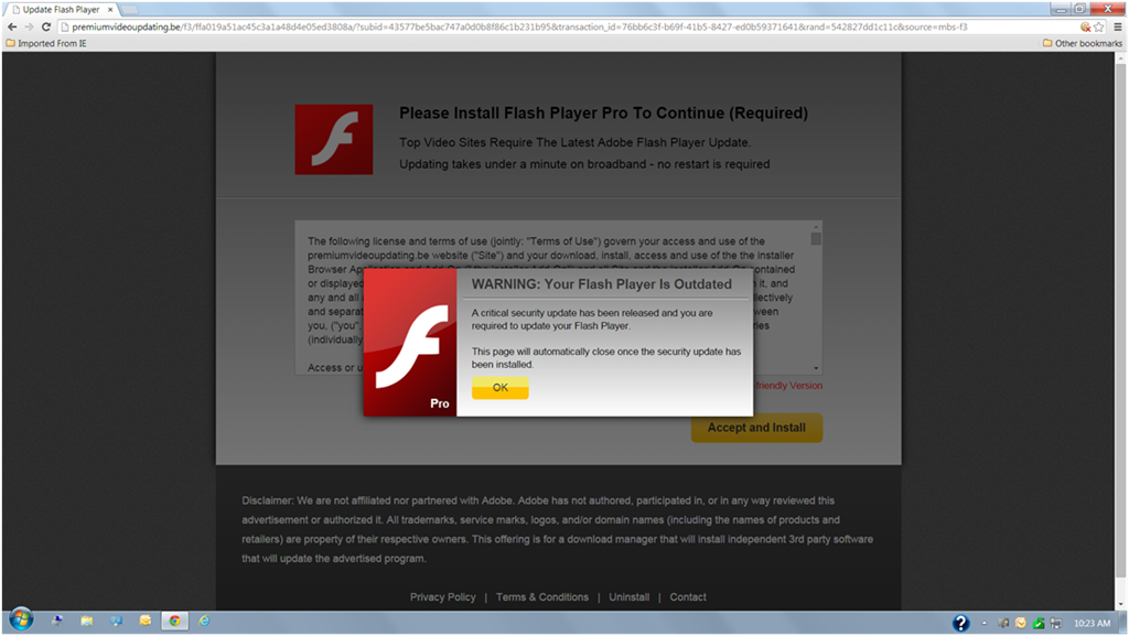 Warning: Fake Adobe Flash Update - Microsoft Community