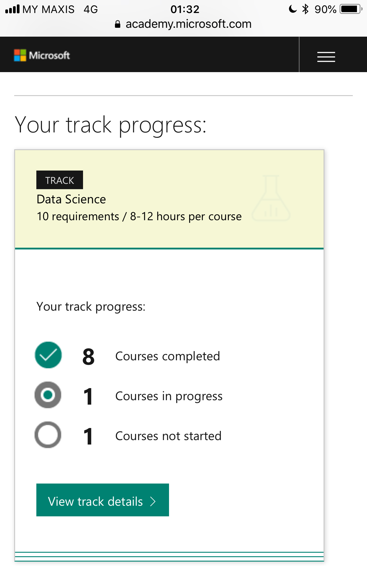 Request For Dashboard Update To New Track Training Certification