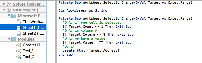 Excel 2016 on Mac: Worksheet_SelectionChange does not detect ...