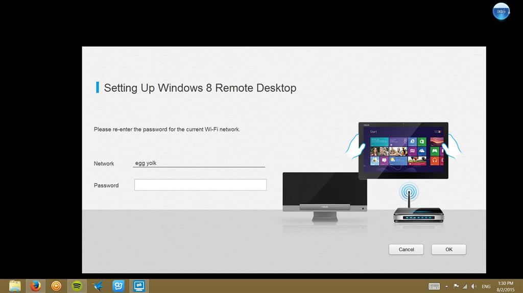windows 8 remote desktop keeps asking for wifi password - Microsoft
