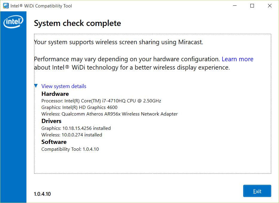 intel widi software windows 10
