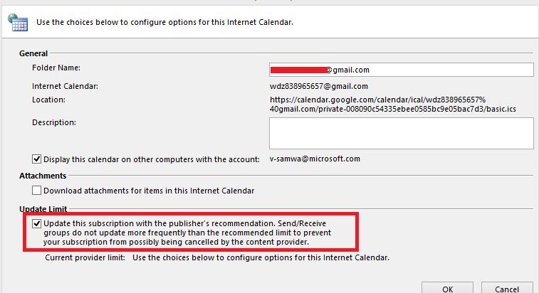 Outlook 365, Subscribed Internet Calendars do not sync, do not