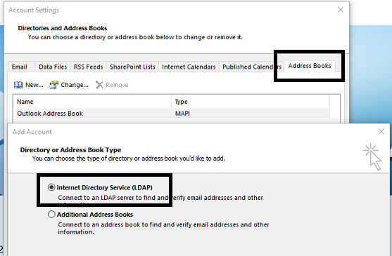 Access To My Contacts Folders On Exchange Online Via Ldap Microsoft Community