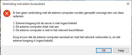 Na Windows 10 Upgrade Geen Verbinding Met Extern Bureaublad