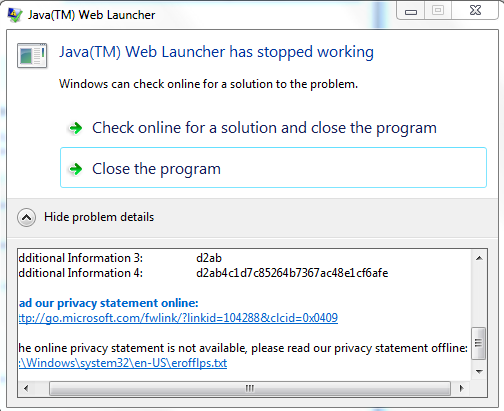 Java problem - Microsoft Community