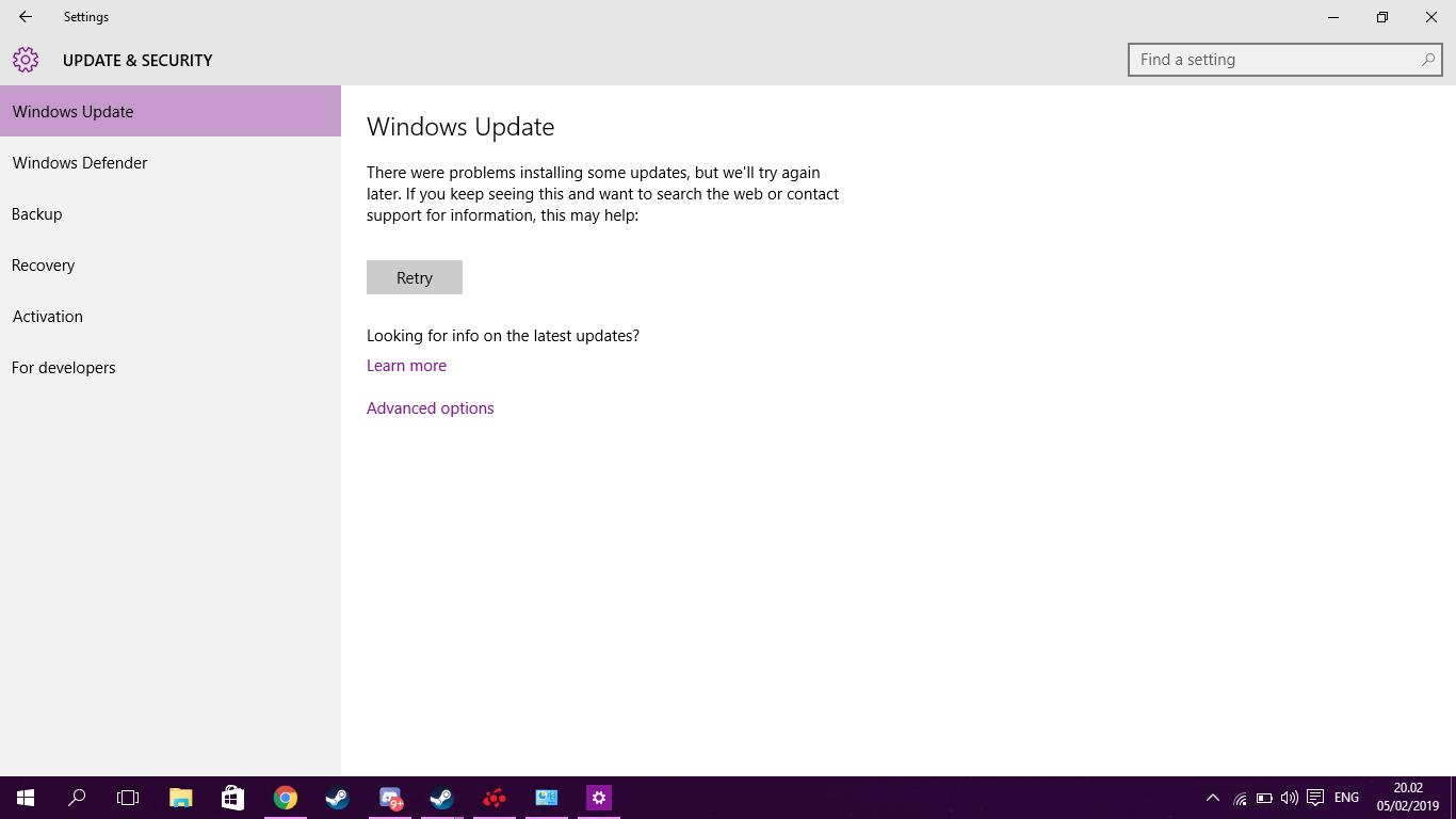 Windows 10 Update Stuck In Retry Loop - Microsoft Community