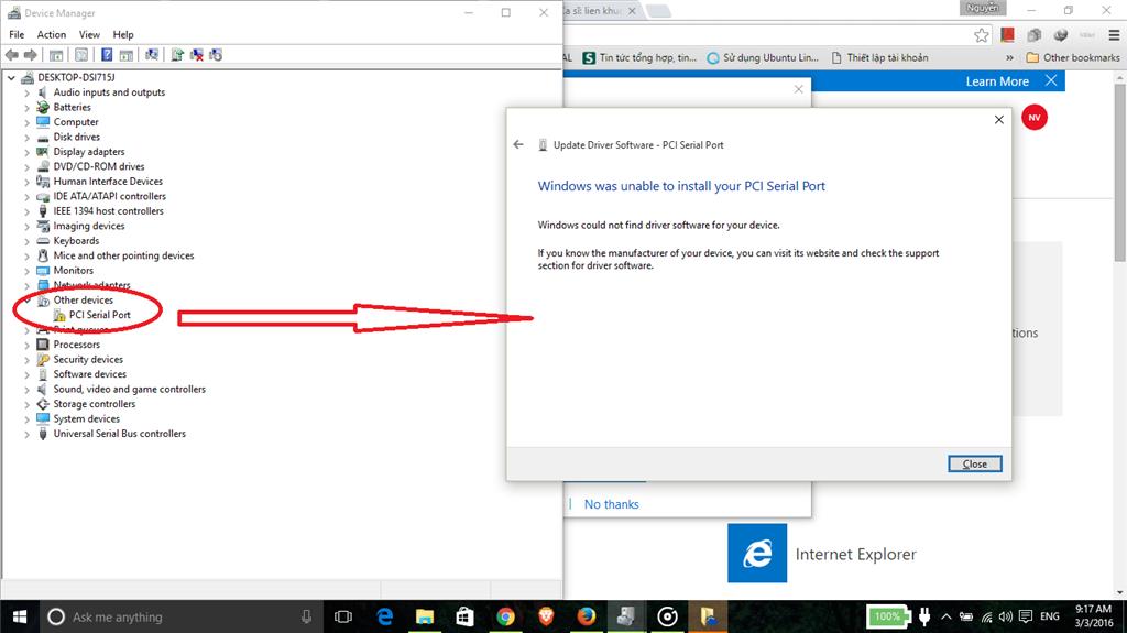 pci serial port driver windows 7 32 bit download lenovo