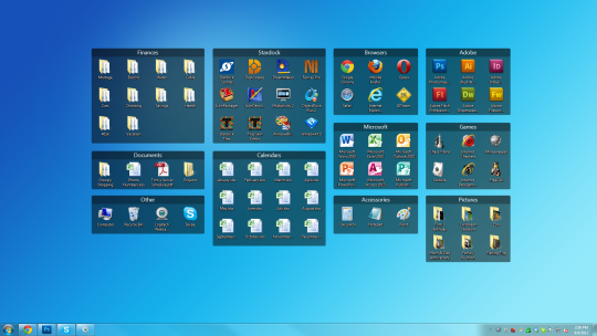 Windows 7 Desktop Organization