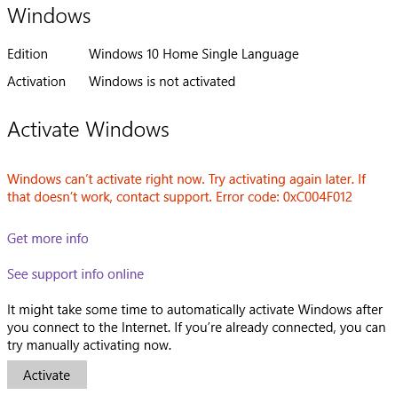 activate microsoft office 2010 on windows 10