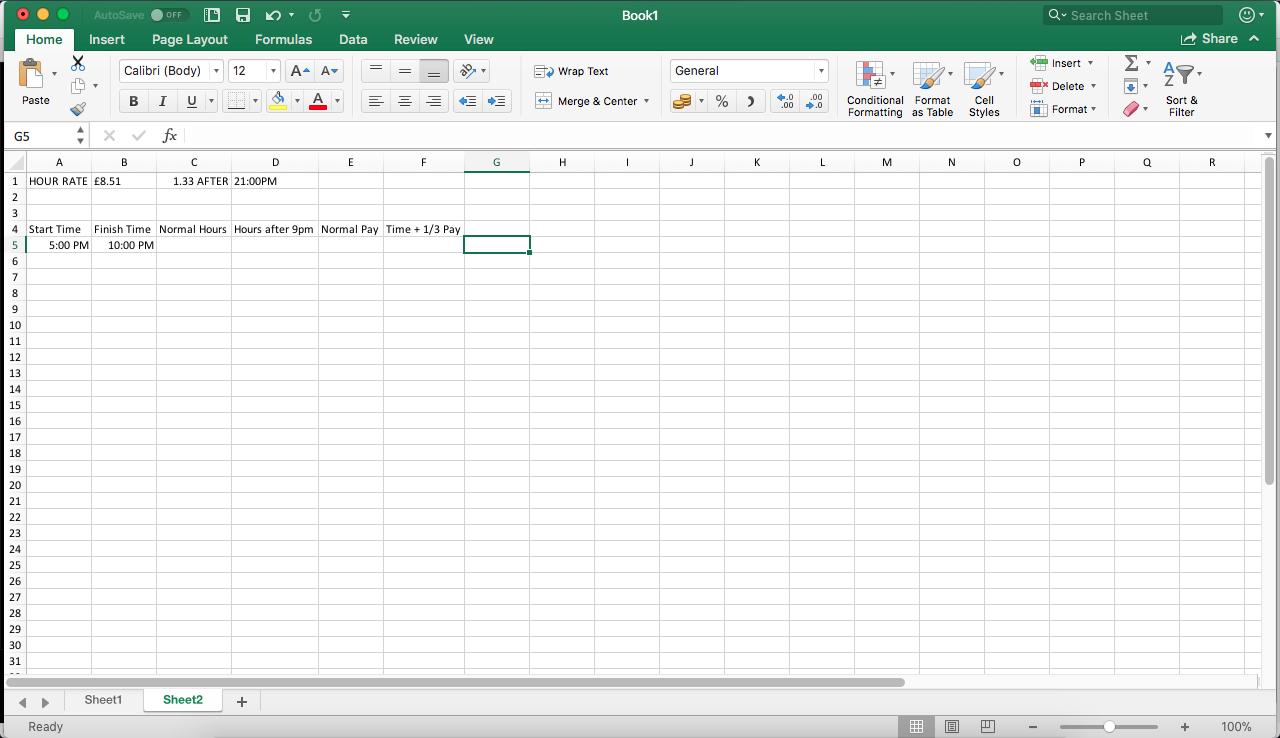 Working Hours calculator - Microsoft Community