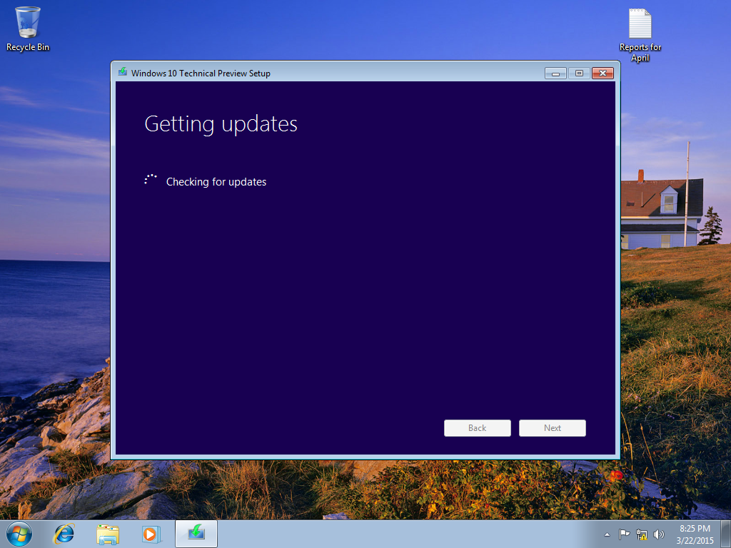 how to change screen while installing windows 10