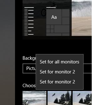 Windows 10 Wallpaper Dual Monitor Microsoft Community