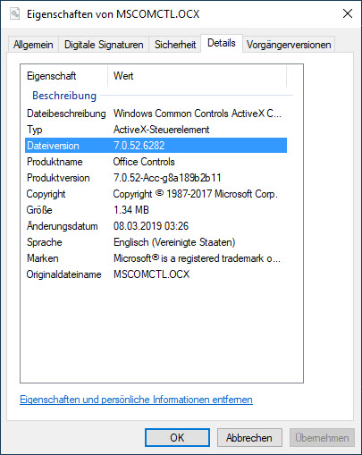 Office 2019 Pro C2R monthly Update ships wrong MsComCtl ocx