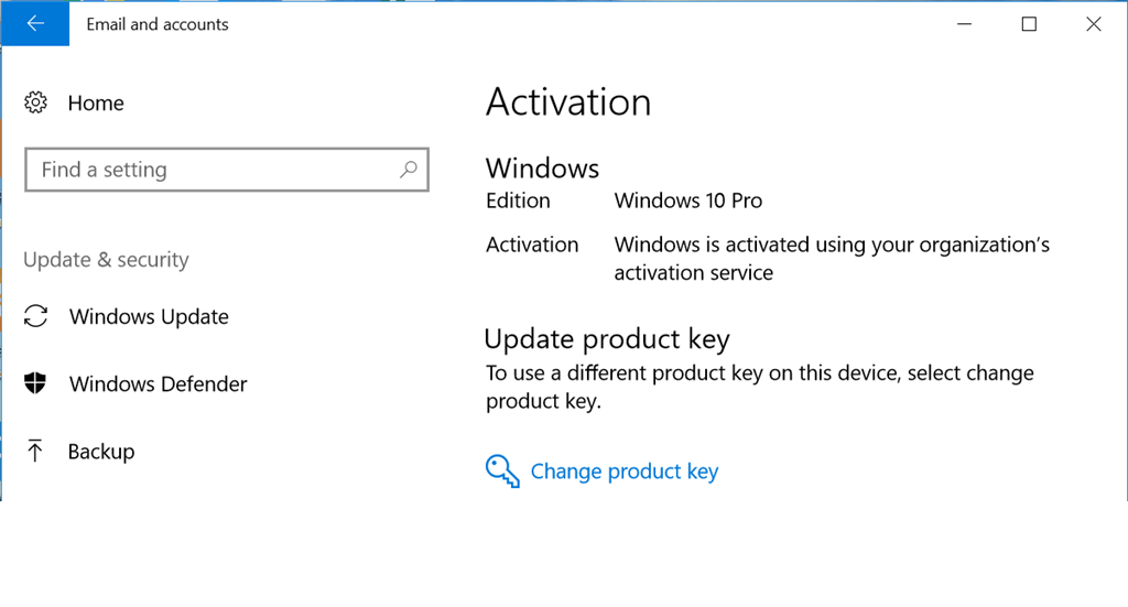 update microsoft windows license key