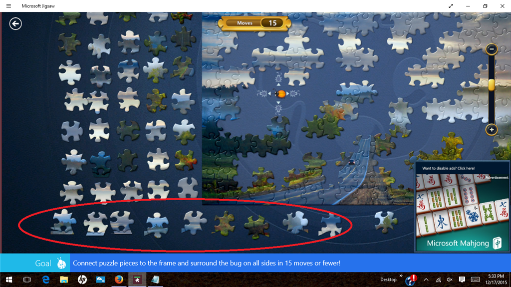 jigsaw problem in windows 10 pieces glitched microsoft community