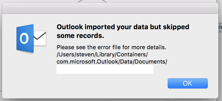 Urgent: Mac Outlook 2016 when receiving email displays out