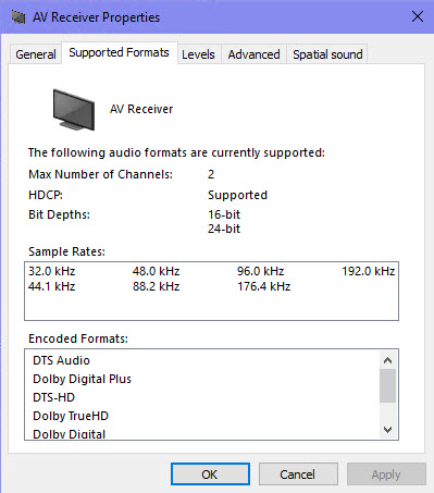 Stereo Only in Sound Settings for HDMI via Intel iGPU in