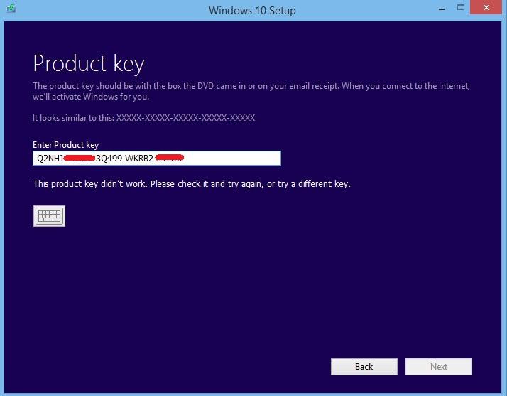 Product Key for Windows 10 Didn't Work - Microsoft Community