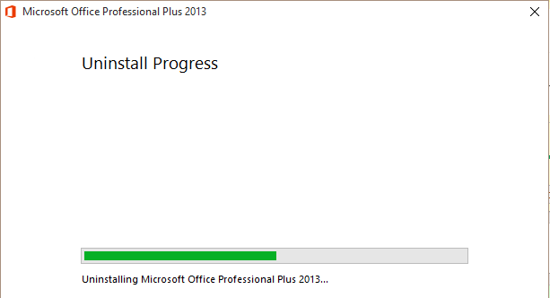 microsoft office 2013 complete uninstall
