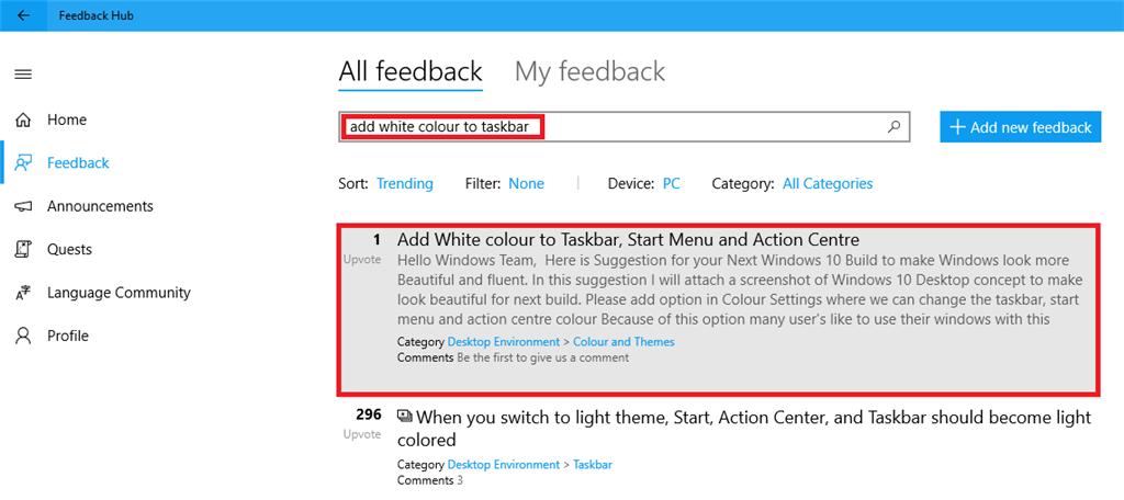 Add White colour to taskbar - Microsoft Community