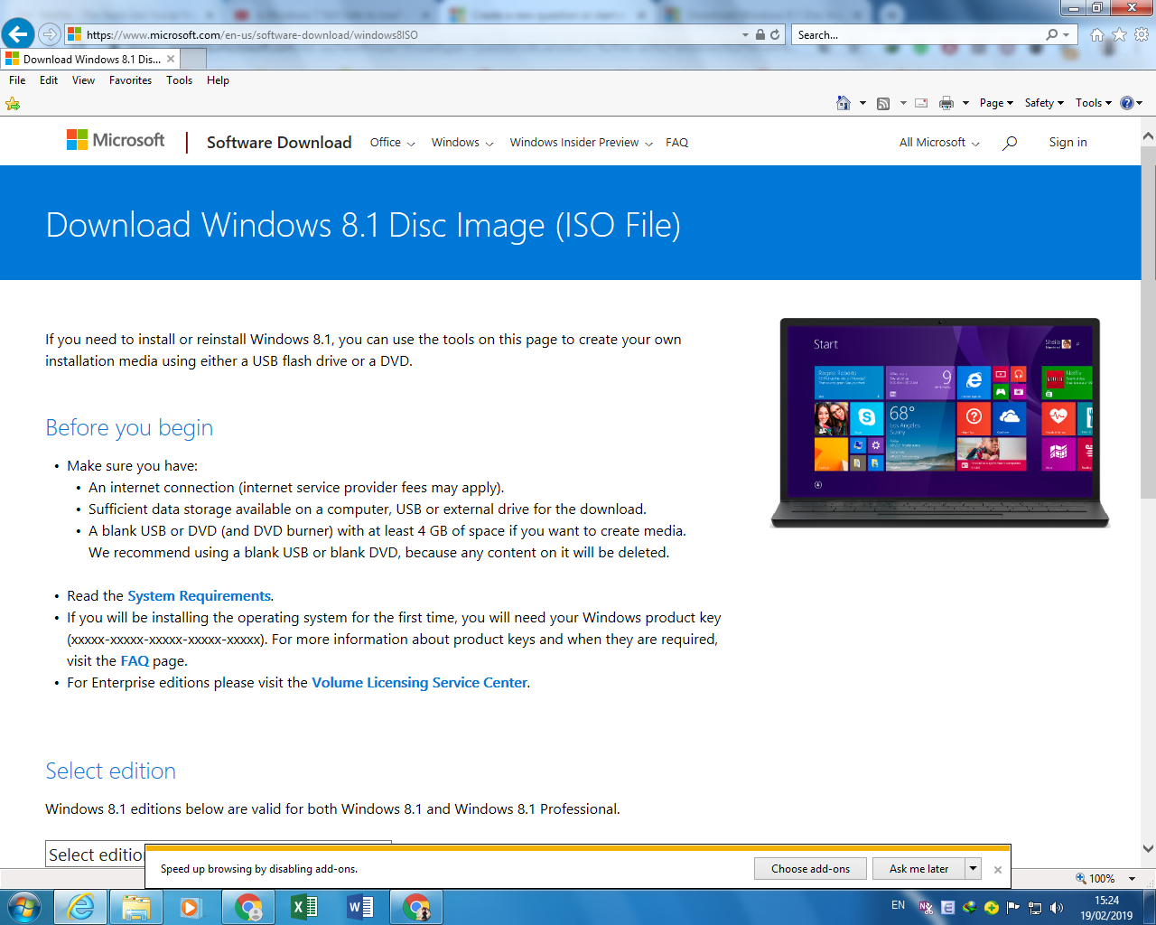 Why Microsoft no longer offering Windows 8 1 Media Creation Tool