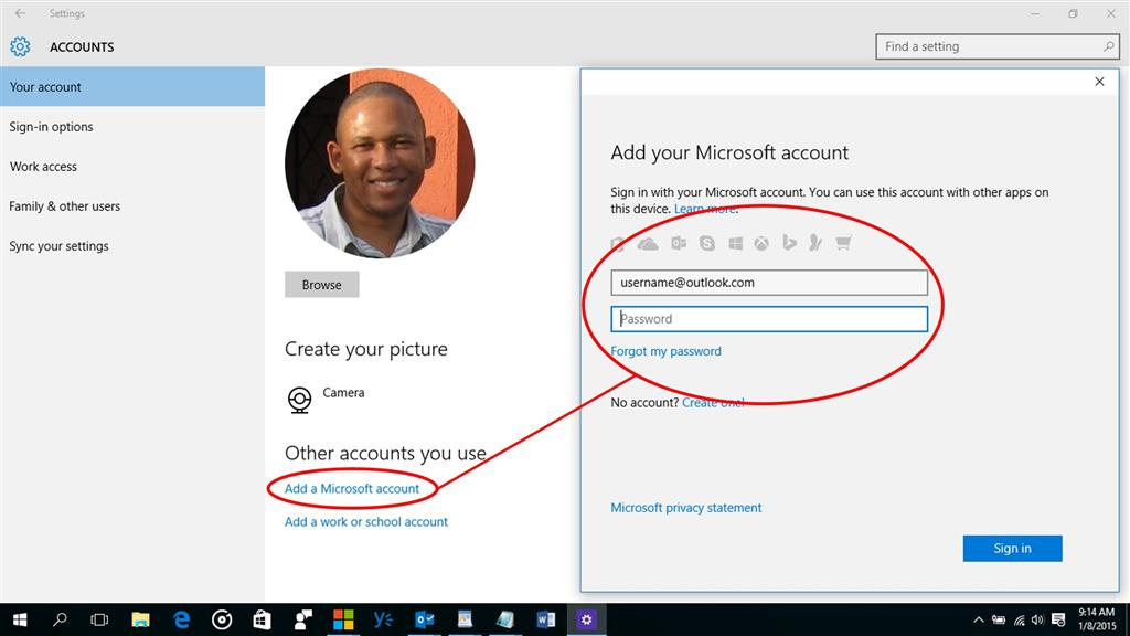 how to get a miscrosoft account